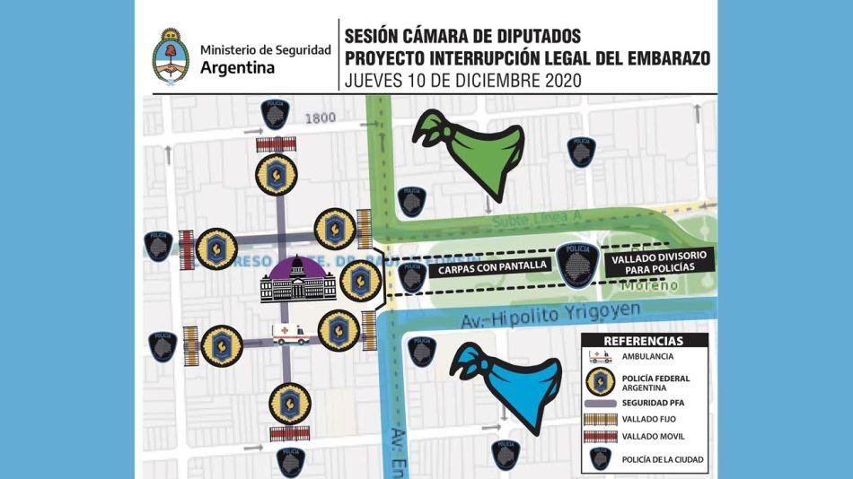 Mapa sesión Diputados Embarazo 20201209