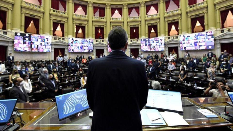Sergio Massa, reelecto como presidente de Diputados.