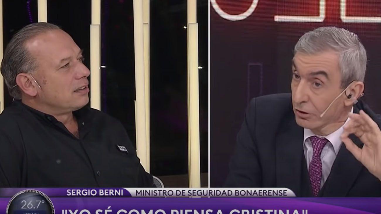 Sergio Berni y Nelson Castro.