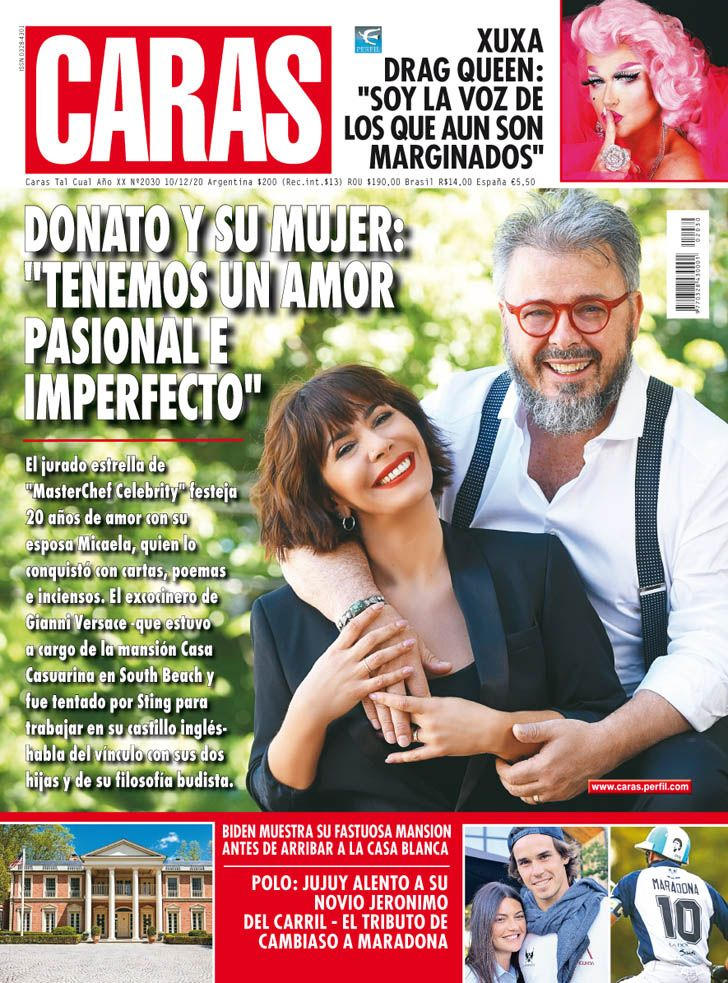"""Donato De Santis y su esposa, Micaela Paglayan: """"tenemos un amor pasional e imperfecto"""""""