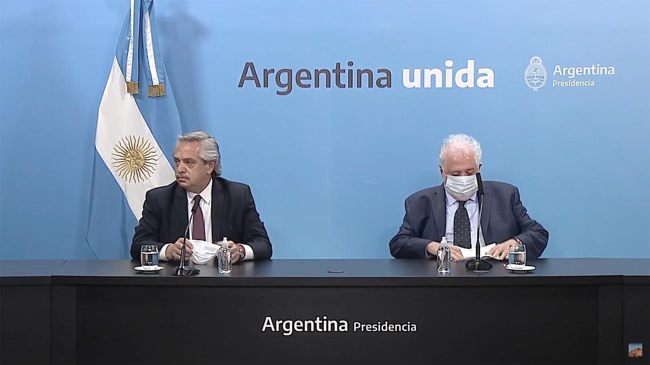Conferencia de prensa del Presidente y el ministro de Salud