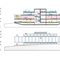 Las tres cubiertas suman en total 14 metros de altura.