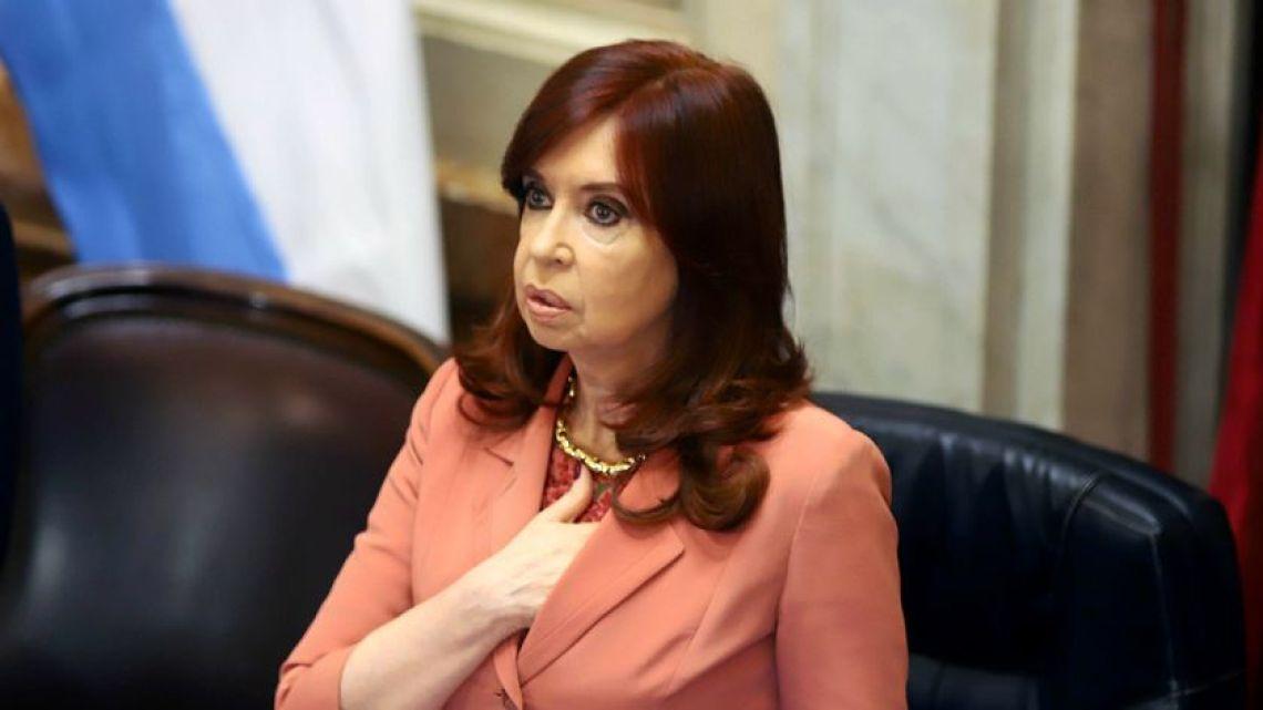 Vice-President and Senate president Cristina Fernández de Kirchner.