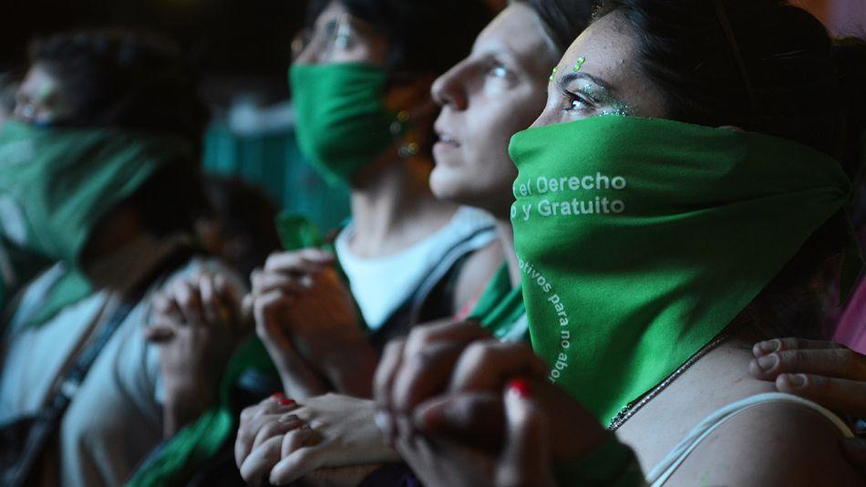 Imágenes en el contexto de la votación por el aborto en Diputados.