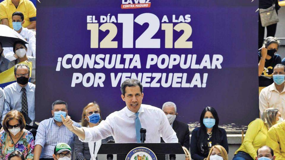 Guiadó. Llamó a la abstención en las parlamentarias del domingo, donde el chavismo logró la mayoría.