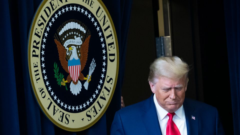Donald Trump, presidente saliente de los Estados Unidos.