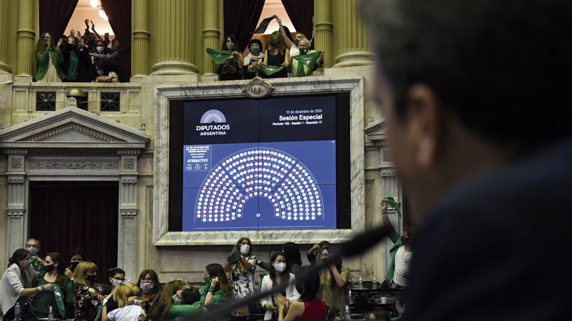 Lawmakers celebrate as the result of the vote – 131 votes in favour, 117 against and six abstentions – is confirmed.