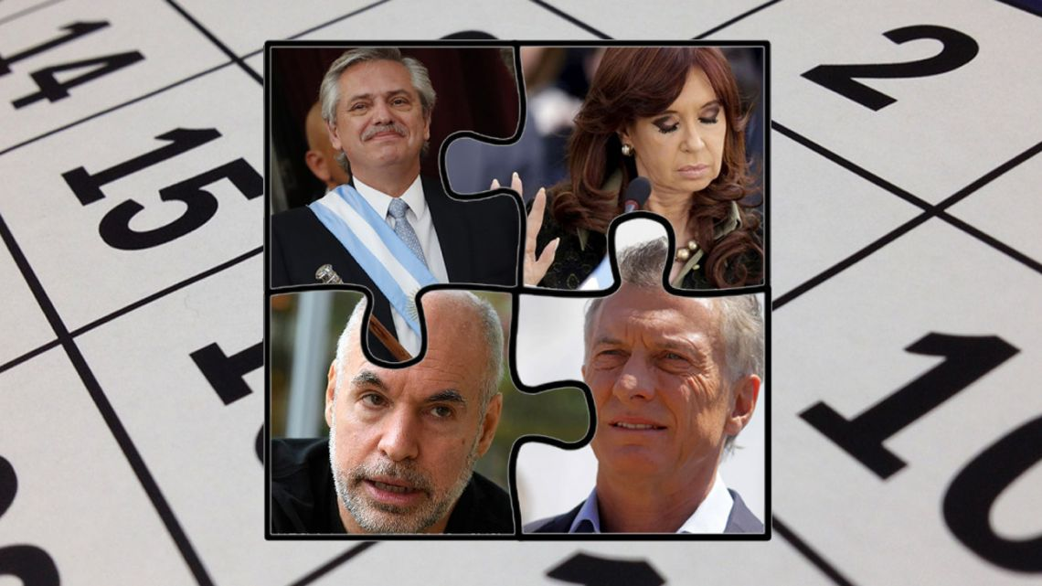 Alberto Fernandez, Cristina Kirchner, Mauricio Macri and Rodriguez Larreta.
