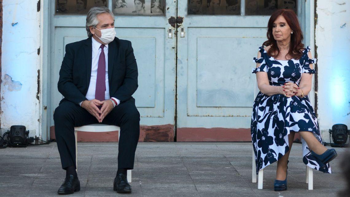 Alberto Fernandez and Cristina Kirchner.