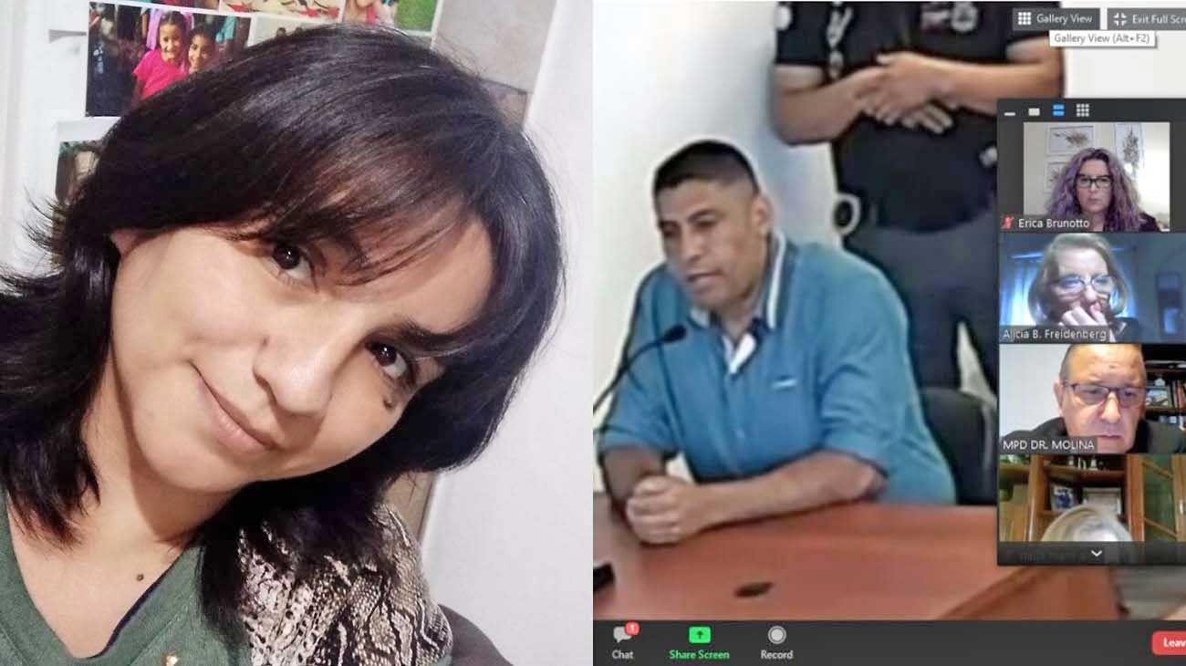 Fatima. Tiene tres hijos de entre 8 y 21 años que la acompañan. / Acusado. Luis Rondón fue detenido el día del hecho y el jueves pasado fue condenado a la pena máxima por el intento de femicidio de Fátima Aparicio.