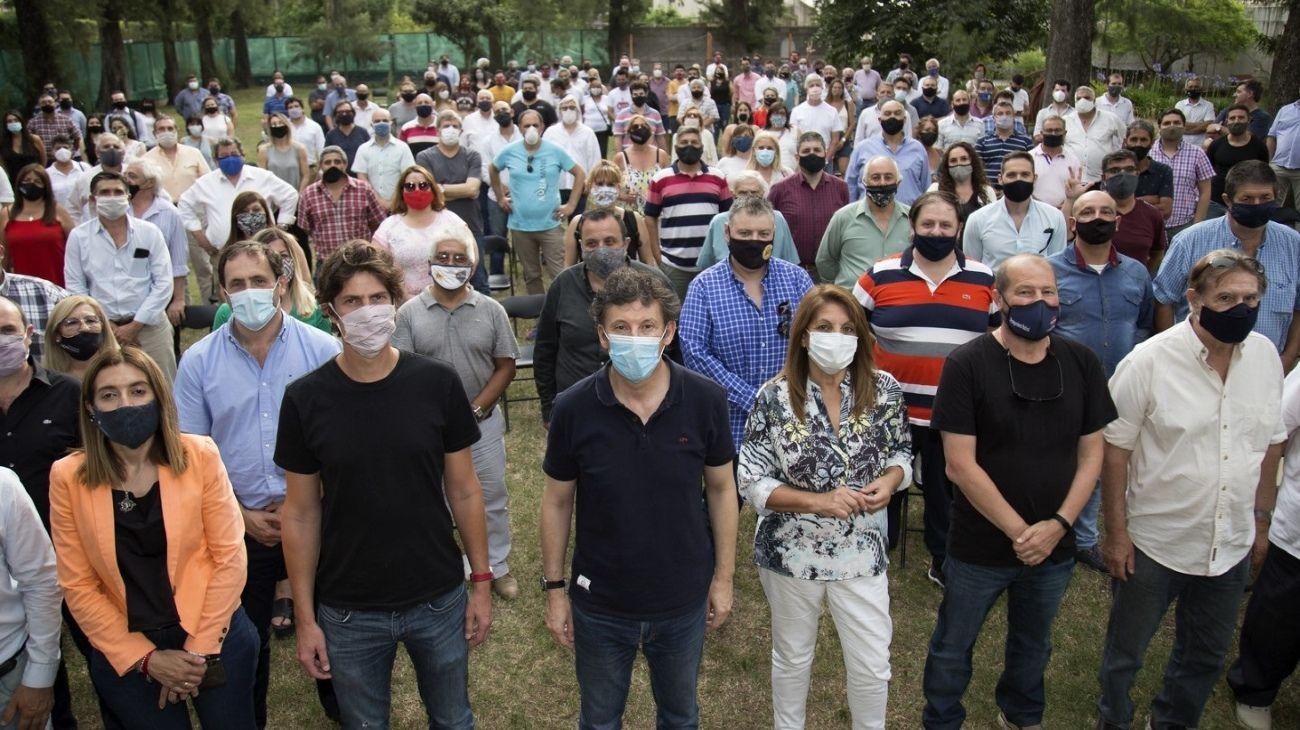 Martín Lousteau y Gustavo Posse, juntos, en un acto con dirigentes radicales