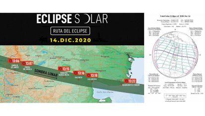 """Para ver. El eclipse se verá en forma """"total"""" en una delgada franja del norte de la Patagonia argentina."""
