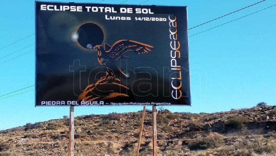 Eclipse solar total en Piedra del Aguila
