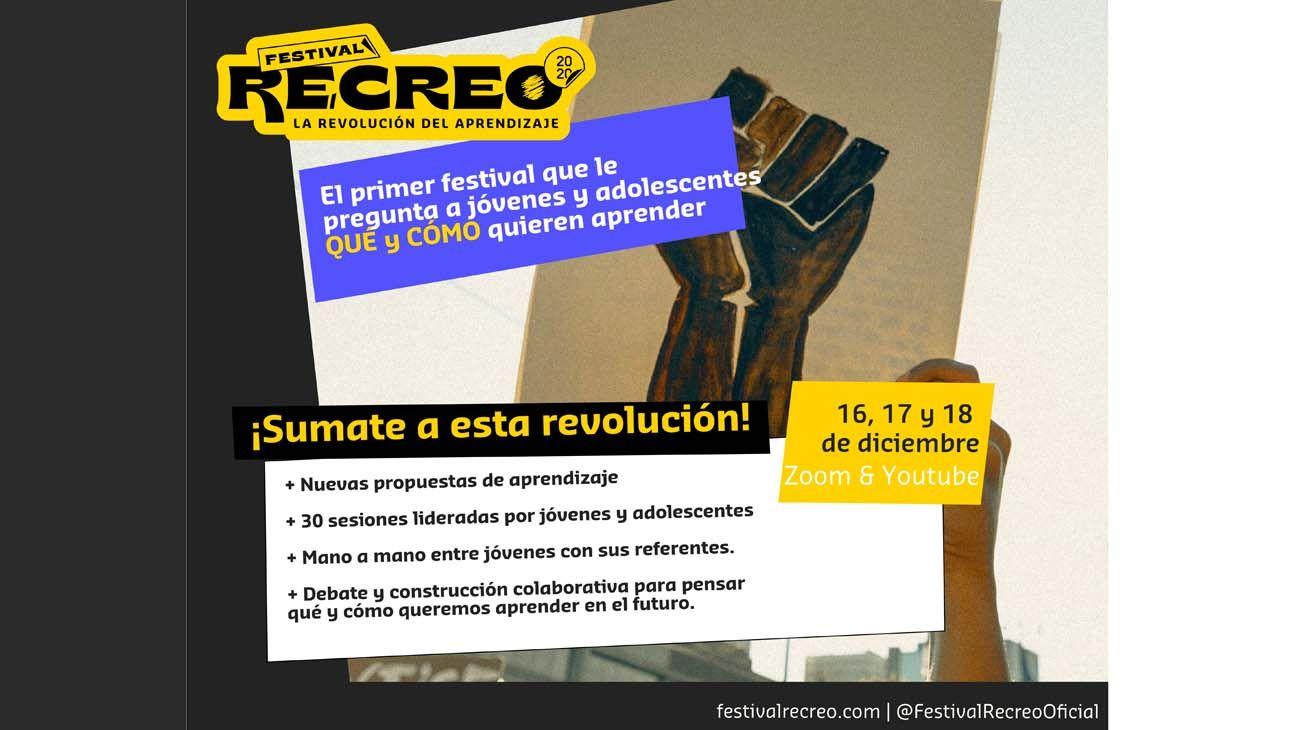 Durante 3 días de aprendizaje y celebración, Recreo ofrecerá distintos tipos de actividades y espacios virtuales.