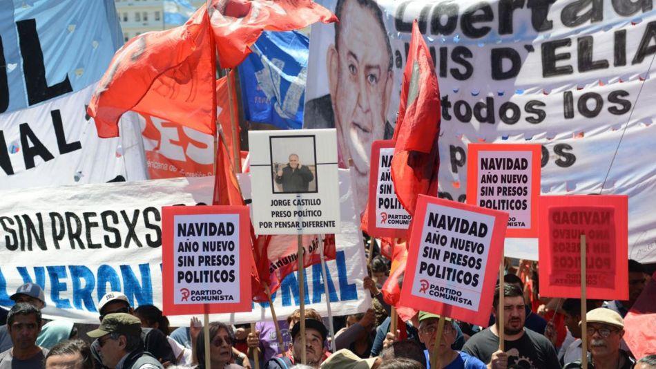 """Marcha por la liberación de los denominados """"Presos Políticos"""" del 2019"""