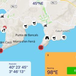 La información que brinda es de lo más basta, incluye puertos, zonas de atraque, posición y distancia de los centros para la carga de combustible, etc.