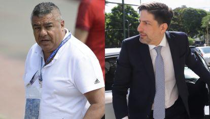 Claudio Tapia, presidente de la AFA, y Nicolás Trotta, ministro de Educación de la Nación. // NA