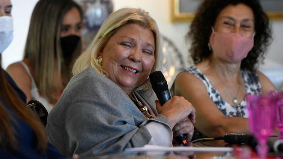 Elisa Carrió, referente de la Coalición Cívica.