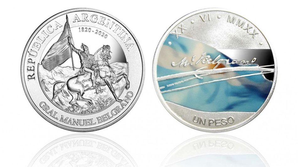 Moneda homenaje Belgrano 20201215