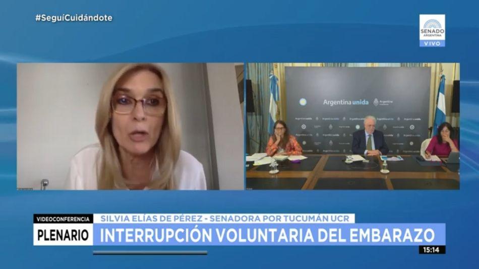 Silvia Elías de Pérez aborto senado