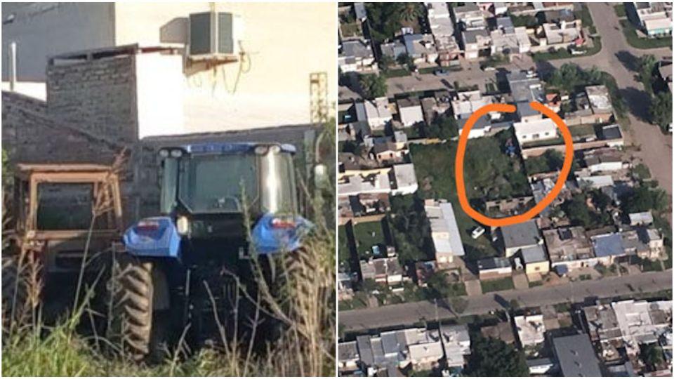 Los tractores estaban en el casco urbano de Frontera.