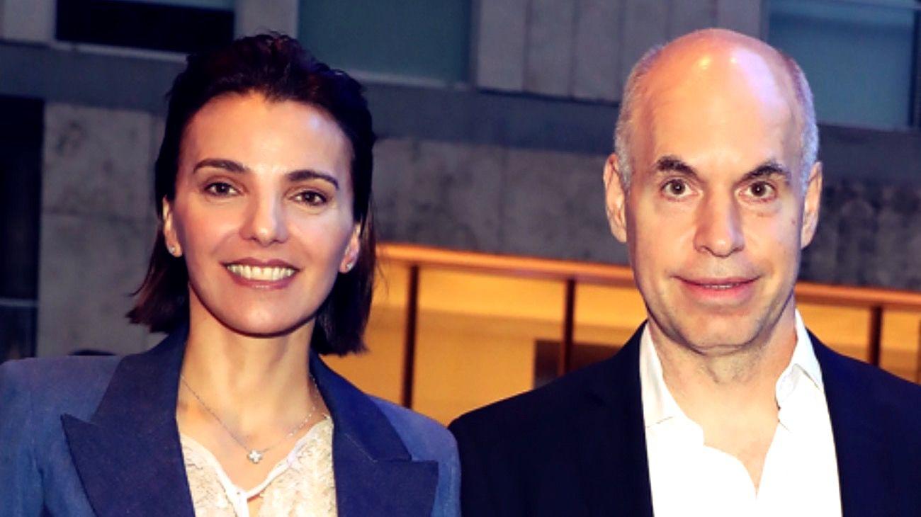 Bárbara Diez y Horacio Rodríguez Larreta.