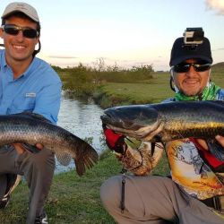 Pesca de tarariras tornasoladas en Tacuarembó, Uruguay.