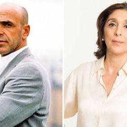 Silvia Majdalani y Gustavo Arribas.
