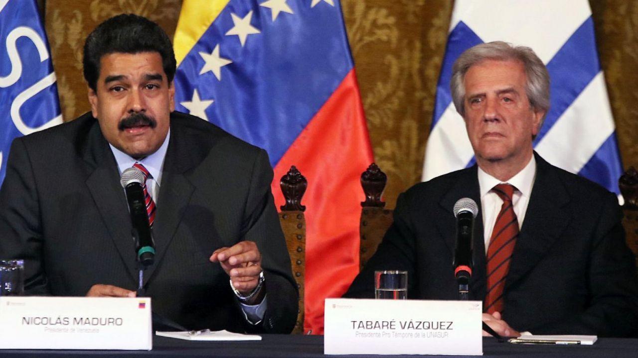 Nicolás Maduro y Tabaré Vázquez en UNASUR