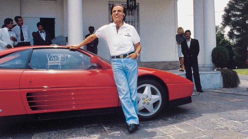 Carlos Saúl Menem y su polémico Ferrari