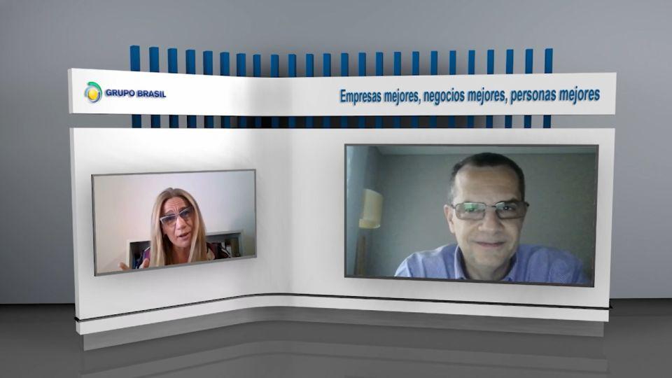 La directora del Grupo Brasil, Gabriela Muller, y el presidente de la entidad, Oswaldo Parré.
