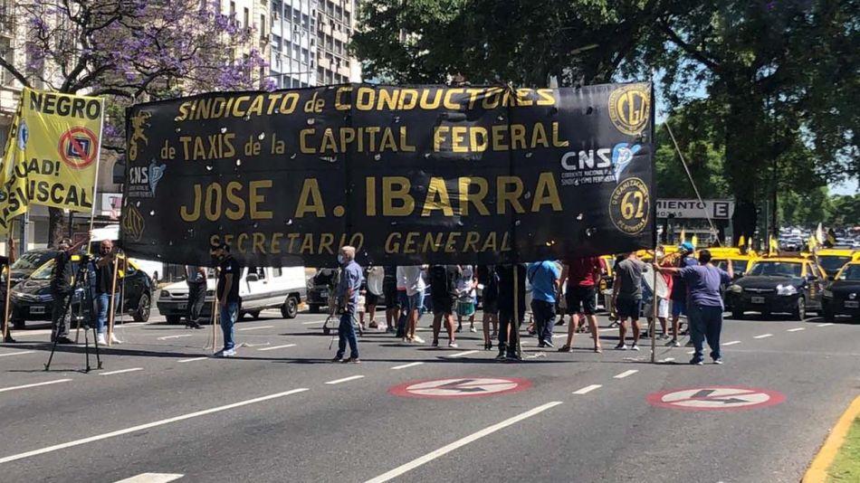 protesta taxistas 20201217
