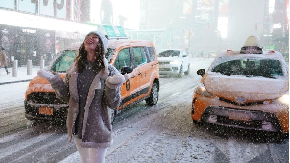 Nueva York tuvo esta semana su primera gran nevada de 2020.