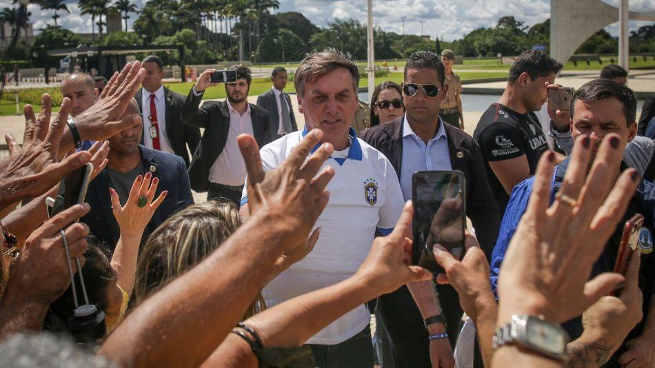 Demonstrators Gather In Support Of President Bolsonaro Amid Coronavirus Outbreak