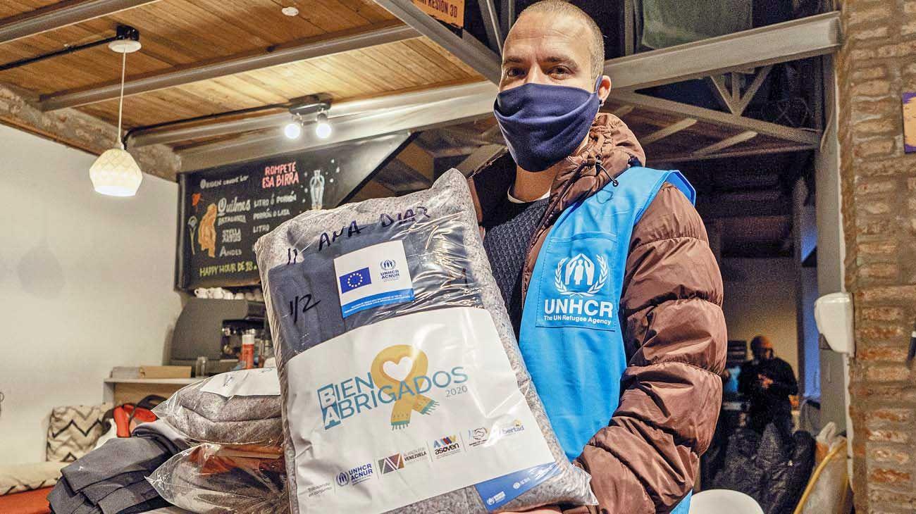 Invierno. La Campaña Bien Abrigados 2020 reunió, por primera vez, a cuatro organizaciones argentino-venezolanas con apoyo de ACNUR.