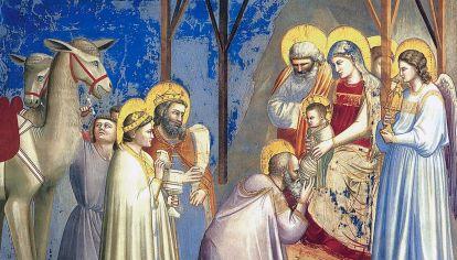 Adoración de los reyes. Giotto (1305). Detalle