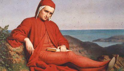 Dante. Dante en el exilio, Peterlin Domenico (1865). Escribió una obra que no deja de leerse y admirarse.