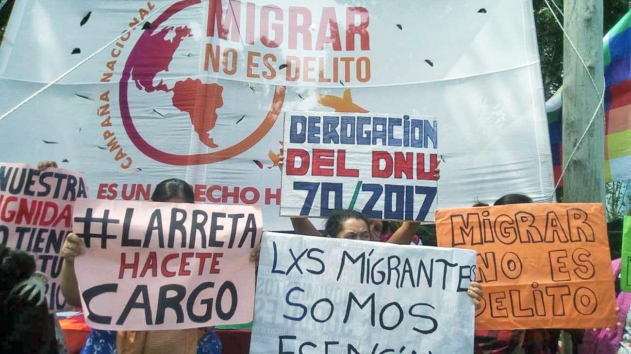 Marcha. El viernes, por el Día Internacional de los Migrantes.