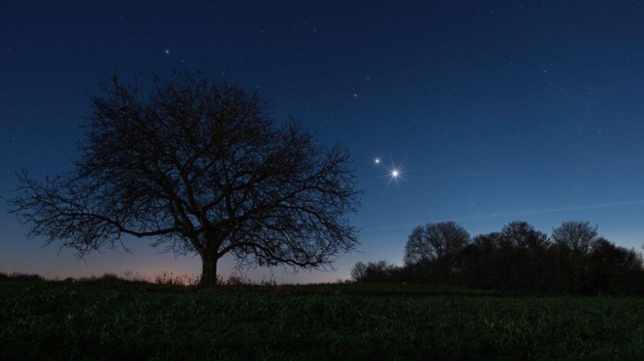 Avistamiento de la conjunción entre Saturno y Júpiter