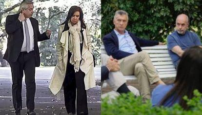 Alberto y Cristina - Macri y Larreta