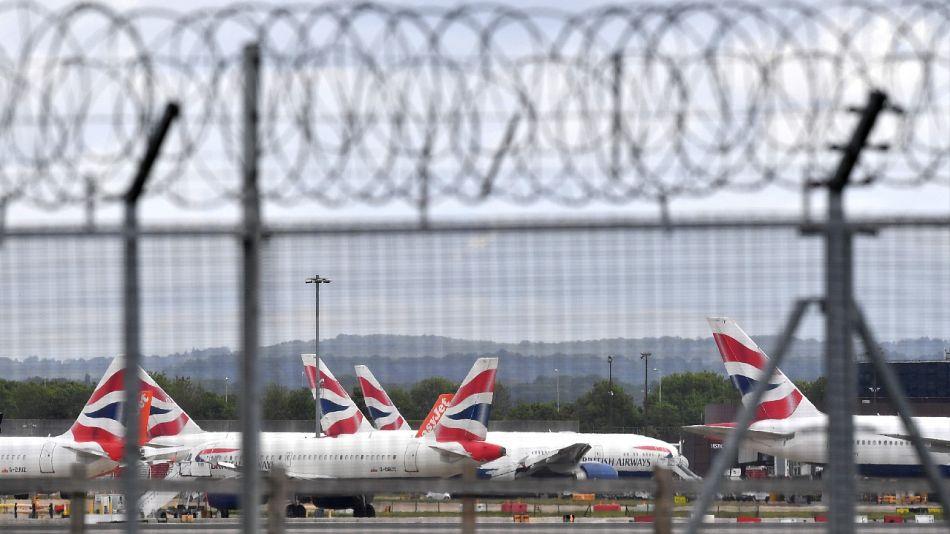 Vuelos frenados en el Reino Unido