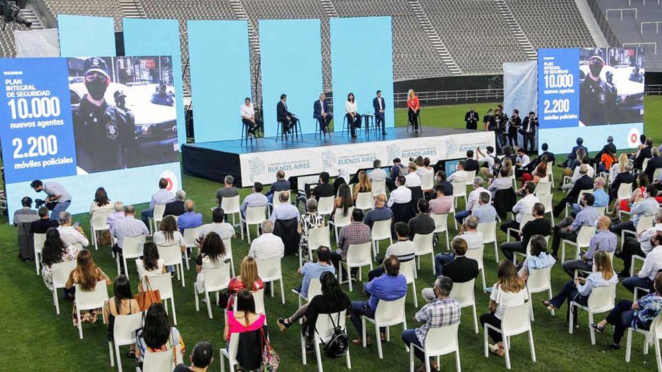 Acto. El encuentro de Kicillof, Cristina y Alberto Fernández buscaba mostrar unidad en el FdT.