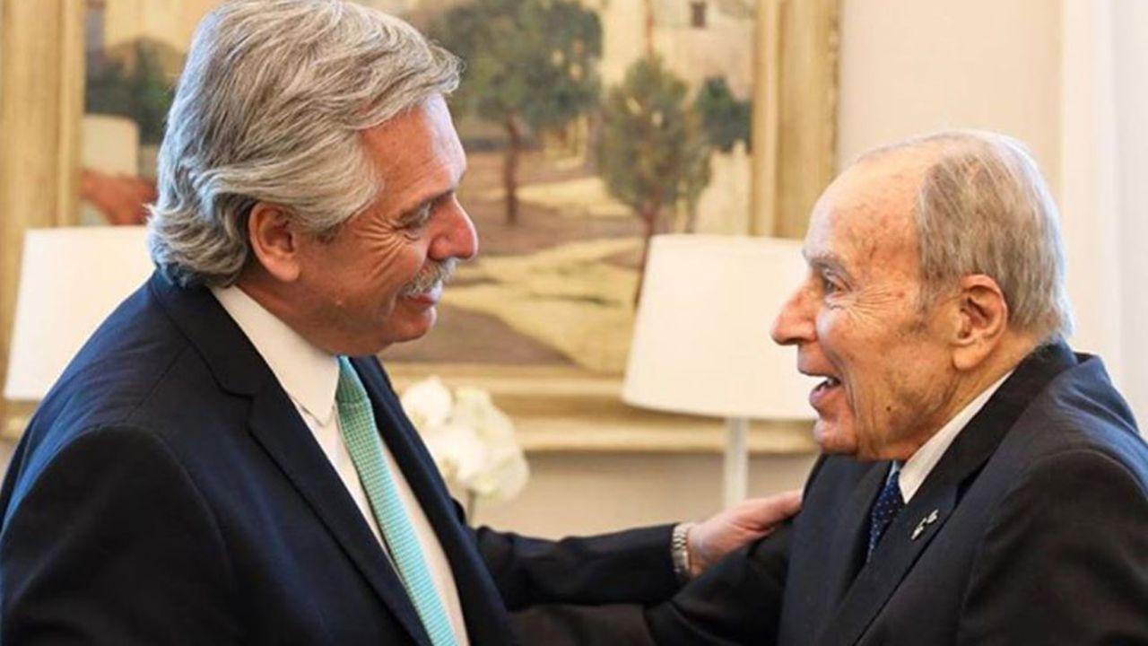Alberto Fernández y Domingo Liotta | Foto:cedoc