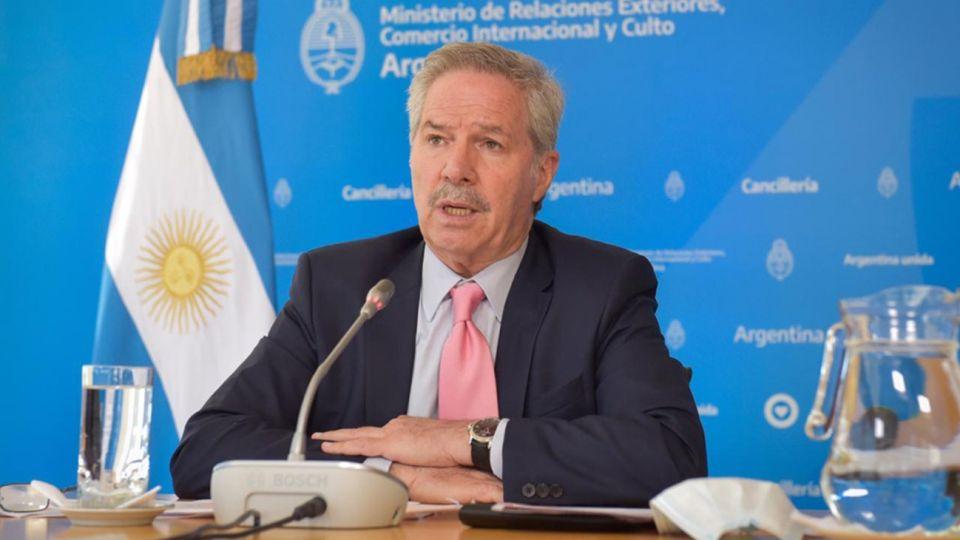 El canciller argentino Felipe Solá.