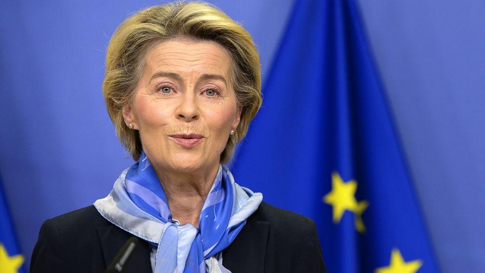 La presidenta de la Comisión Europea, Ursula von der Leyen, realizó el anuncio.