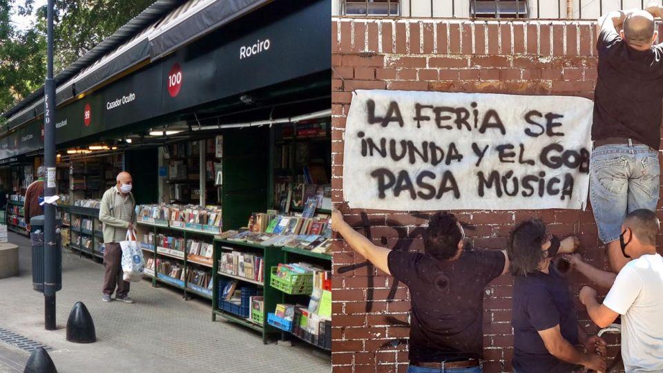 Los vendedores de libros de Parque Rivadavia en pie de guerra.