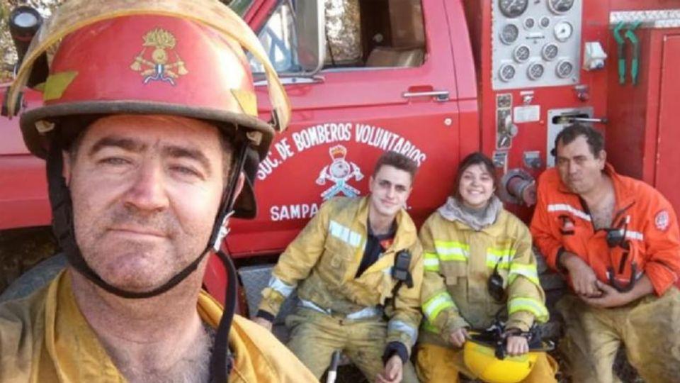 La aspirante a bombera del cuartel de Sampacho, Tania Kañera