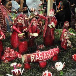 """En la ciudad mexicana de Oxaca, el 23 de diciembre tiene lugar la celebración de """"La Noche de Rábanos""""."""