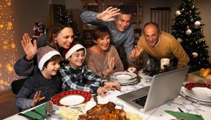 familia en navidad,