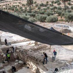 Los restos del baño ritual judío fueron encontrados en una roca ubicada al pie del Monte de los Olivos, en Getsemaní, Jerusalén.